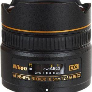 Nikon 10.5MM F2.8G AF DX IF-ED FISHEYE-NIKKOR LENS