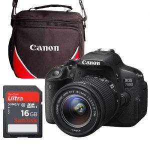 Canon EOS 700D Starter Bundle: EOS 700D + 18-55 IS STM Lens + Sandisk 16GB card + Canon Shoulder Bag-0