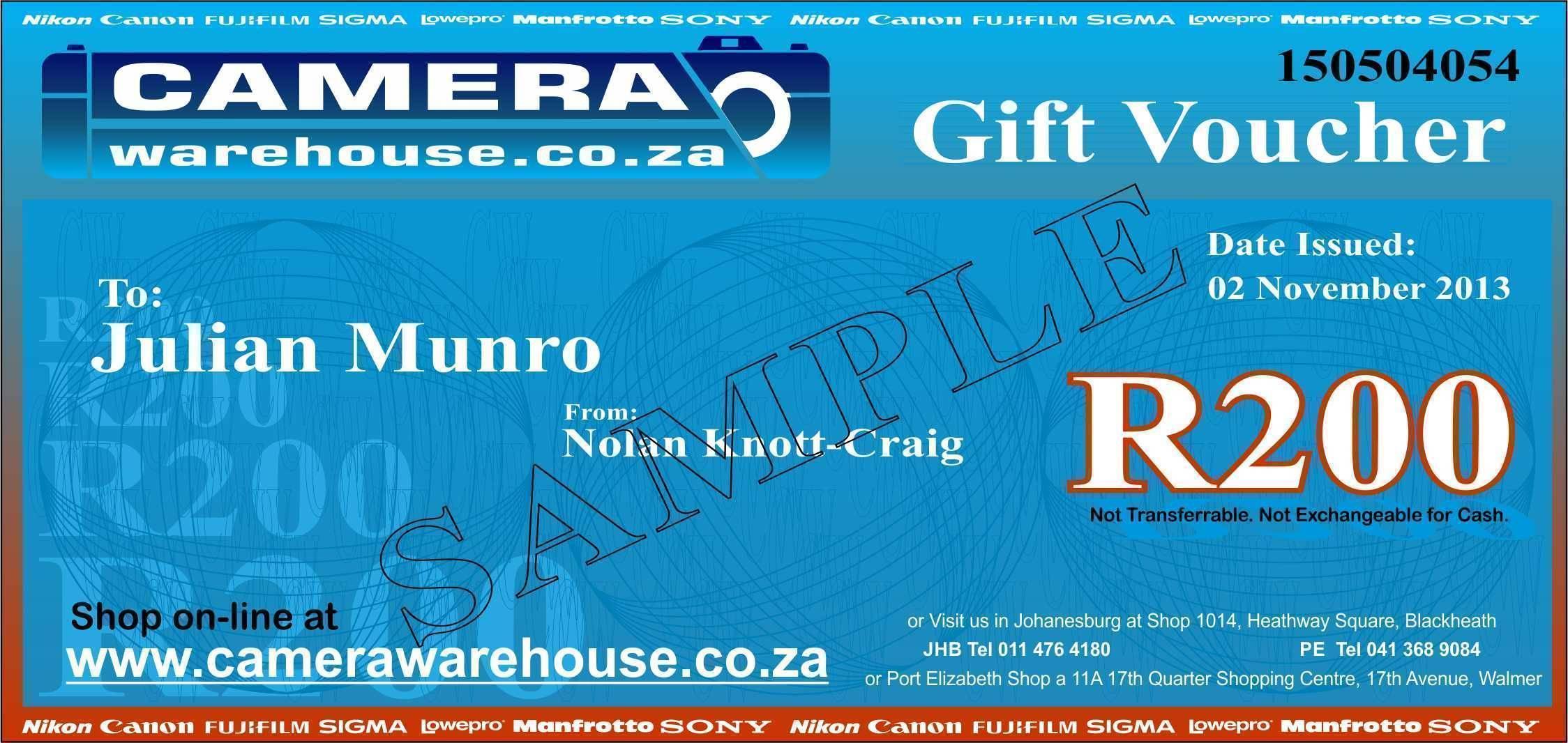Gift Voucher R200.00
