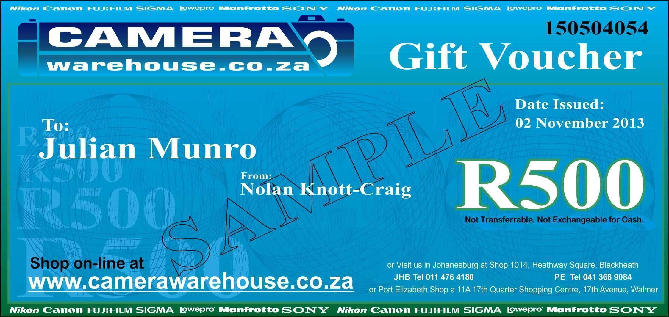 Gift Voucher R500.00