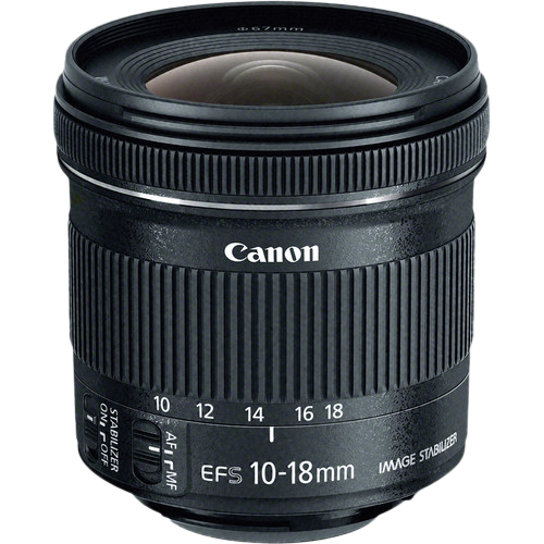 Canon EF-S 10 – 18 mm f 4.5 – 5.6 IS STM Wide Angle Lens