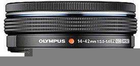 OLYMPUS – M.ZUIKO DIGITAL 14-42mm 1:3:5-5.6 EZ /EZ-M1442EZ Black and Silver
