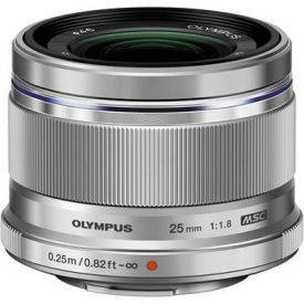 OLYMPUS – M.ZUIKO DIGITAL 45mm 1:1:8 / ET-M4518 Black and Silver