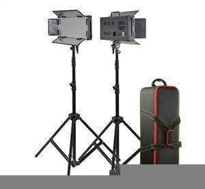 Godox LED500 Two Light LED Kit with Stands