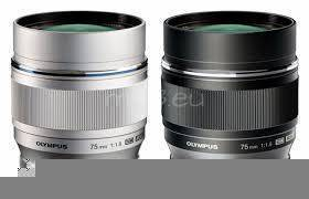 Olympus M.Zuiko Digital ED 75mm 1:1:8 Lens in Black OR Silver