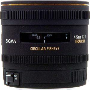 Sigma 4.5mm f/2.8 EX DC HSM Circular Fisheye Lens for Canon