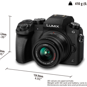 Panasonic LUMIX DMC-G7KGC 14-42 Lens Mirrorless Camera: Kit-0