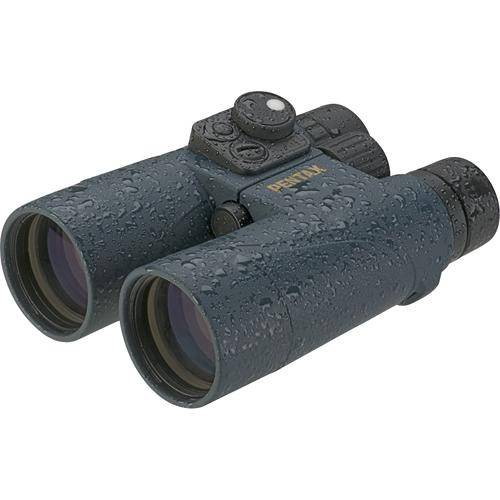 Pentax 7×50 Marine Hydro Binoculars with Compass in Blue or Orange