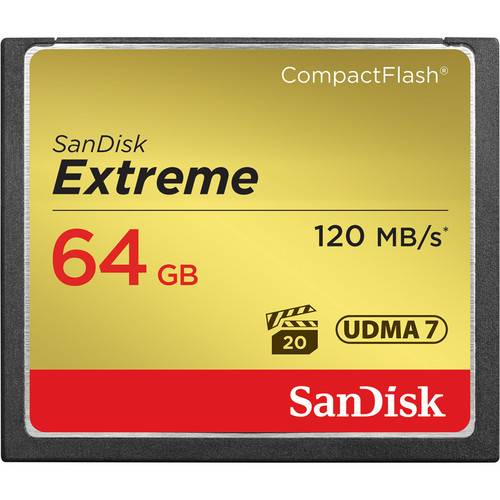 Sandisk Extreme 64GB CF Card 120MB/s-0