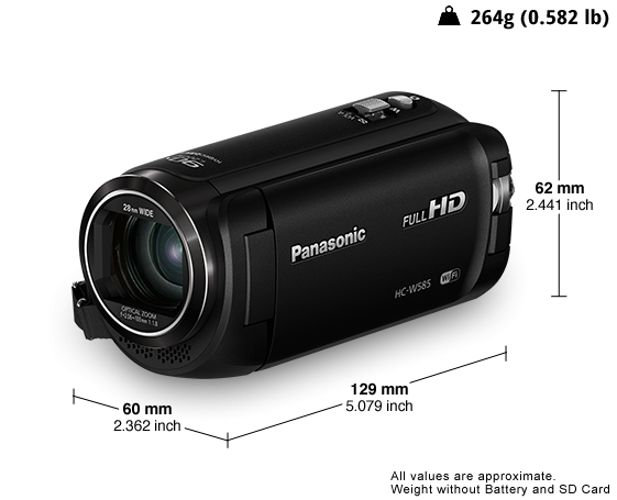 Panasonic HC-W585 HD Video Camera