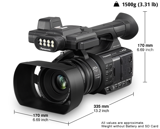 Panasonic HC-PV100 Compact Supports Single-operator Videography-4363