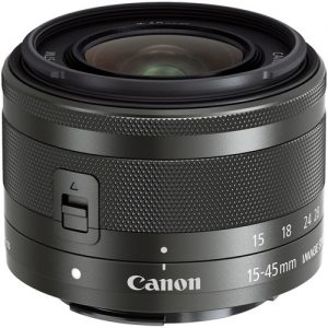 Canon EF-M 15-45mm f/3.5-6.3 IS STM Lens (Graphite)-0