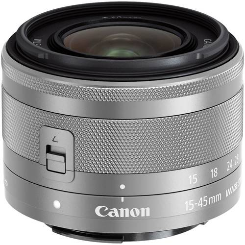 Canon EF-M 15-45mm f/3.5-6.3 IS STM Lens (Silver) -0