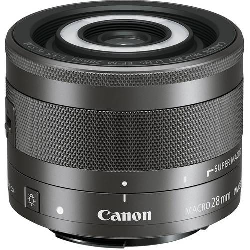 Canon EF-M 28mm f/3.5 Macro IS STM Lens-0