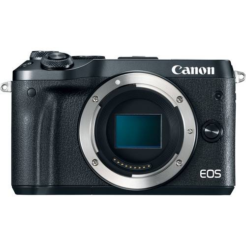 Canon EOS M6 Mirrorless Digital Camera (Body Only, Black) (On Line Only)-0