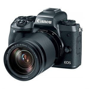 Canon EOS M5, EF-M 15-45mm and Lens Black