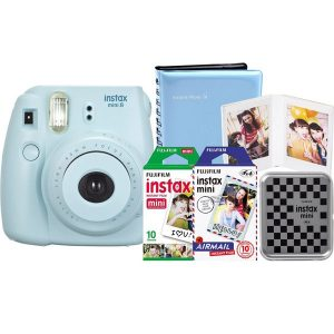 Fuji INSTAX Mini 9  Cobalt Blue KIT & Bag + 1 pack of Film