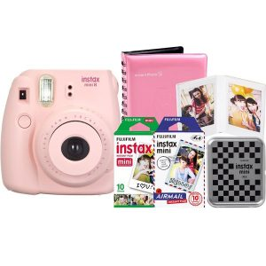 Fuji INSTAX Mini 9 Flamingo Pink & Bag + 1 pack of Film