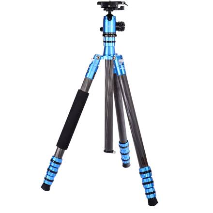 Jenova 35850 Carbon Fiber Tripod Blue + Ball Head -0