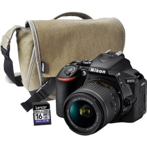 Nikon D5600 AF-P 18-55mm DX VR Lens, Bag, 16GB Card (On-Line Only)-0