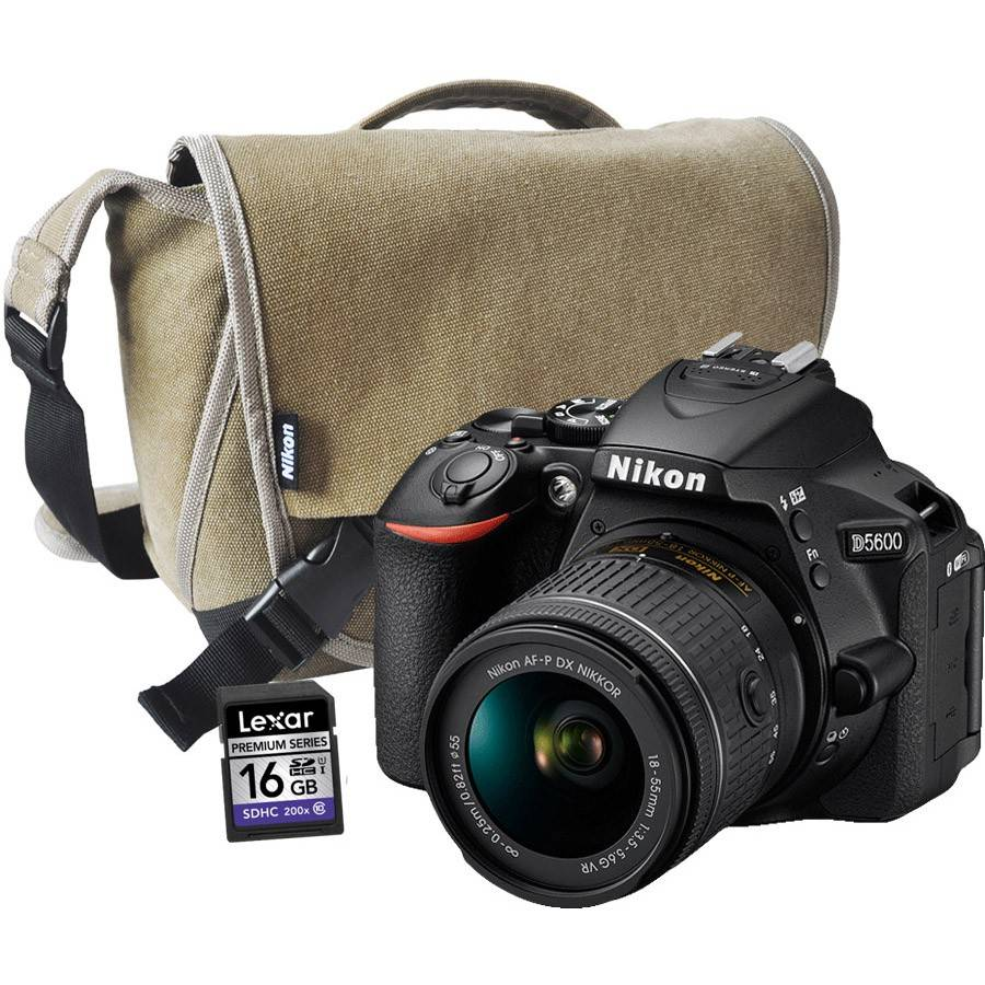 Nikon D5600 + AF-P 18-55MM VR + BAG + 16GB