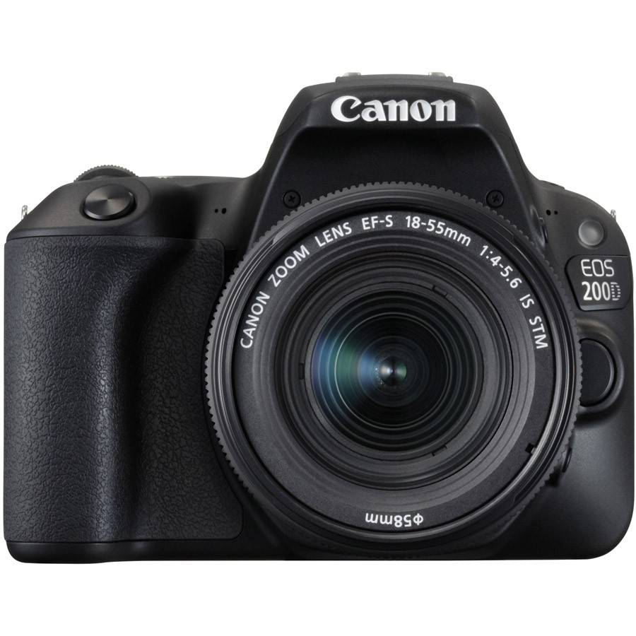 Canon EOS 200D DSLR with 18-55mm f/4-5.6 IS STM Lens