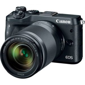 Canon EOS M6 Mirrorless Digital Camera with 18-150mm Lens (Black) (On Line Only)-0