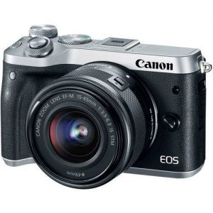 Canon EOS M6 EF-M 15-45mm IS STM Kit Silver (On Line Only)-0