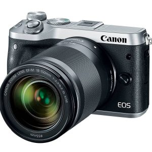 Canon EOS M6 Mirrorless Digital Camera with 18-150mm Lens (Silver) (On Line Only)-0