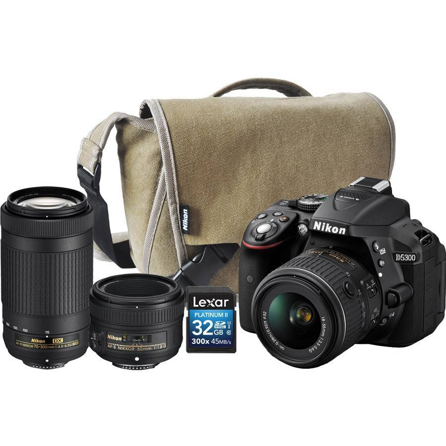 Nikon D5300 BODY+18-55MM AF-P VR +70-300MM AF-P DX+ 16GB CARD+S/BAG (On-Line Only)