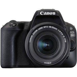 Canon EOS 200D,GETTING STARTED KIT with EF-S18-55 f/3.5-5.6 III, Gadget bag 100EG, 16Gb memory card, Lens Cloth (On Line Only)-0