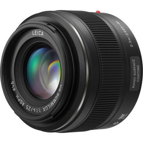 Panasonic 25mm f/1.4 Portrait Lens-(Please Call for a DISCOUNT COUPON).