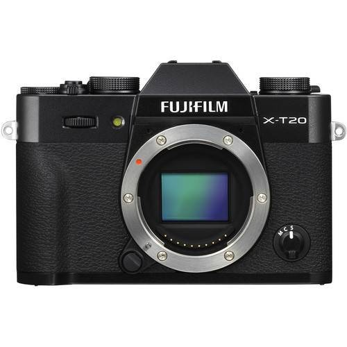 Fujifilm X-T20 Mirrorless Digital Camera Body Only (Black or Silver)