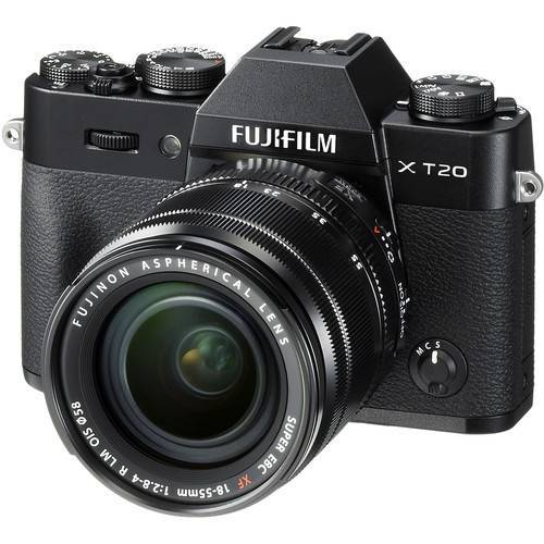 Fujifilm X-T20 Mirrorless Digital Camera with 18-55mm Lens (Black or Silver)