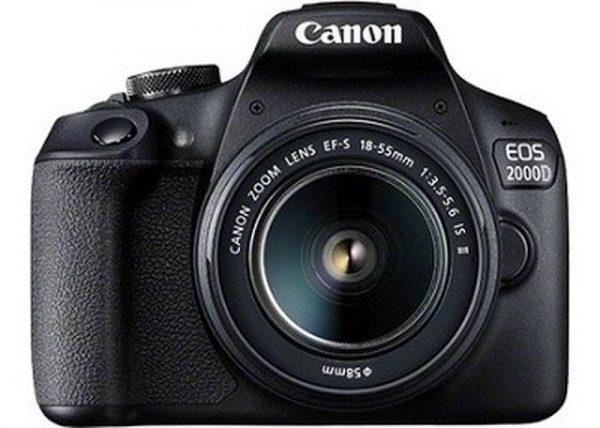 Canon EOS 2000D, EF-S 18-55mm f/3.5-5.6 IS II, EF75-300 f/4-5.6 III Lens DOUBLE LENS BUNDLE-0