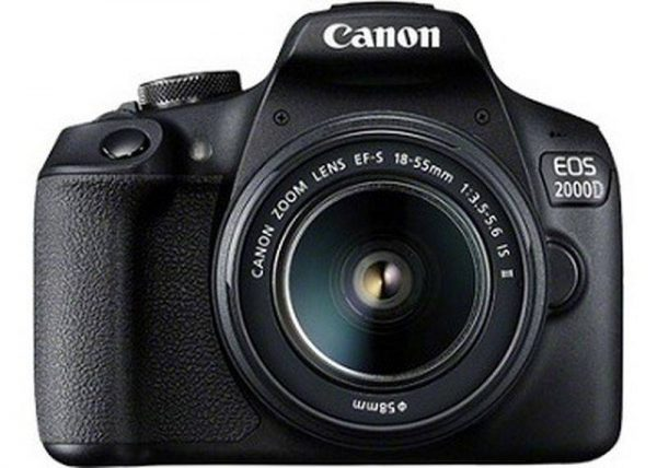 Canon EOS 2000D, EF-S 18-55mm f/3.5-5.6 IS II, EF75-300 f/4-5.6 III Lens DOUBLE LENS BUNDLE-0