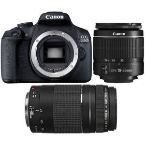 Canon EOS 2000D Double Lens Bundle