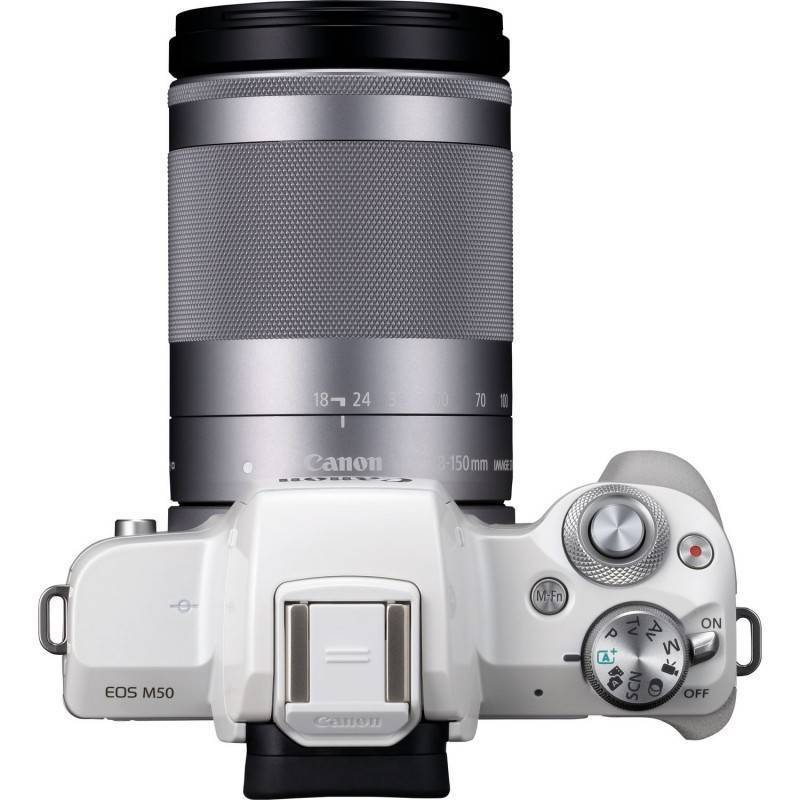 Canon EOS M50 Mirrorless Camera with EF-M 18-150mm f/3.5-6.3 IS STM Lens (White)