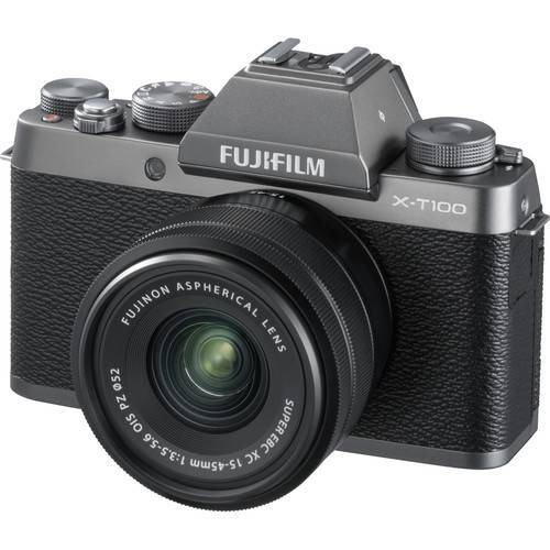 Fujifilm X-T100 15-45mm Lens Kit Silver