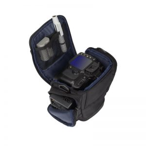 RivaCase 7202  Green Mantis Series SLR Holster Case with side pockets Black  .