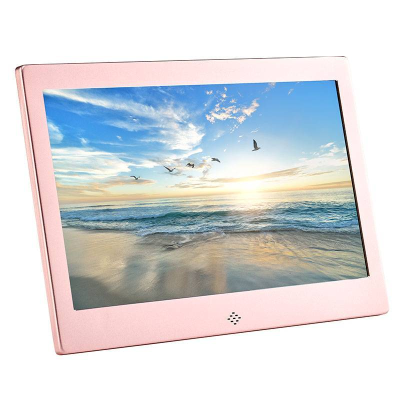 Fotomate FM425M 13″ Digital Photo Frame – Rose Pink Metalic