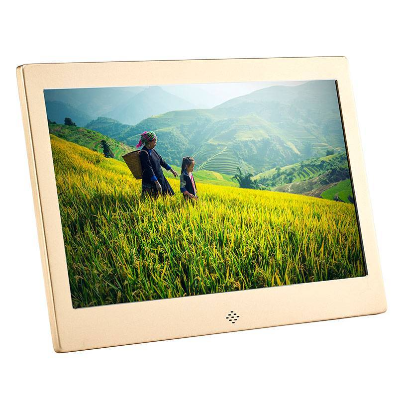 Fotomate FM435M 13″ Digital Photo Frame – Gold Metalic