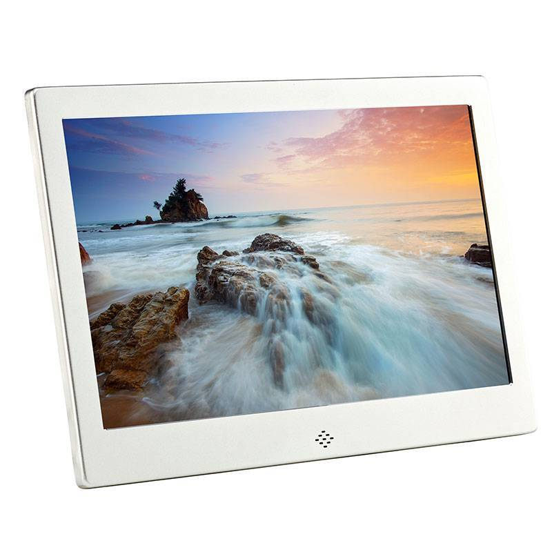 Fotomate FM325M 10″ Digital Photo Frame – Silver Metalic
