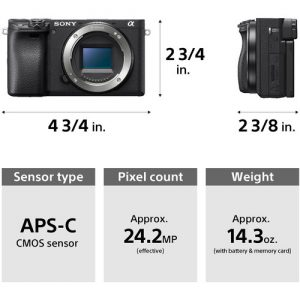 Sony A6400 Mirrorless Camera with 18-135mm Lens