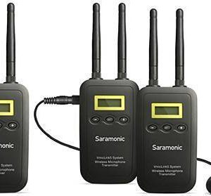 Saramonic VmicLink5 RX+TX+TX Two-Channel 5.8Ghz Wireless Lavalier System