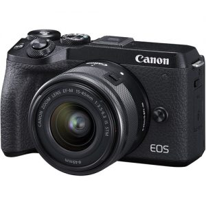 Canon EOS M6 MkII Mirrorless Camera + EF-M15-45mm Lens Kit