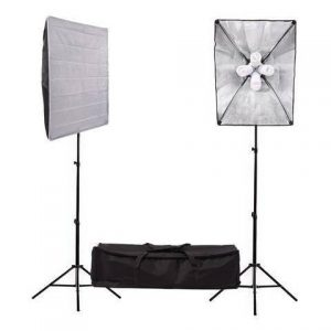 Fluorescent 680W Softbox Four Head Light Kit