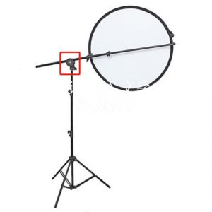 E-Photographic 1,45m Aluminum Reflector Stand with Turntable Bracket
