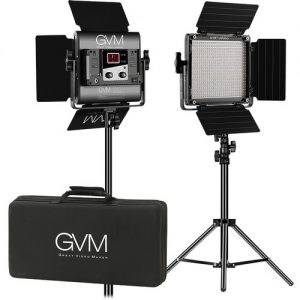 GVM 560AS Bi-Color LED Studio Video 2-Panel Light Kit